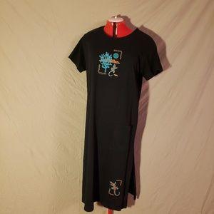 Cactus Bay Black Gecko Maxi Dress